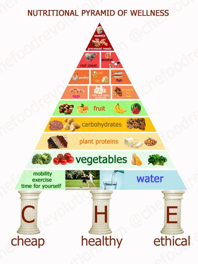 nutritional pyramid of wellness