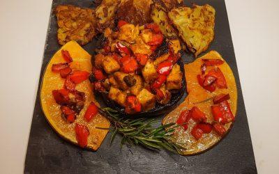 Funghi portobello ripieni e rösti: benvenuto autunno!