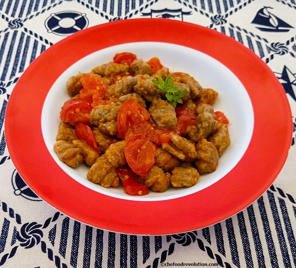patlıcanlı vegan gnocchi