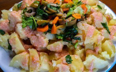Pembe Soslu ve Düşük Glisemik İndeksli Patates Salatası