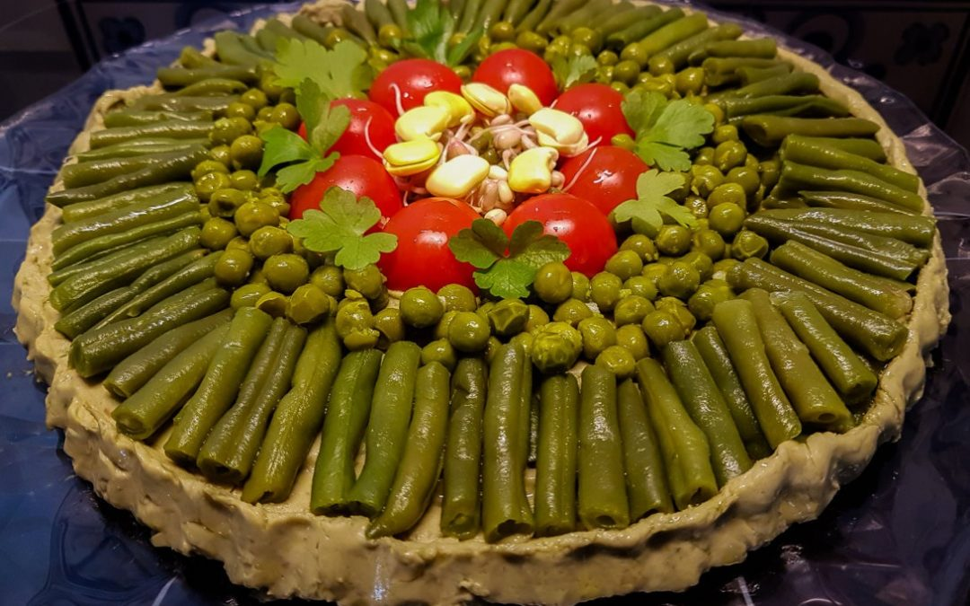 Vegan Fava bean and vegetable tart: a poor, but nutrient-rich meal