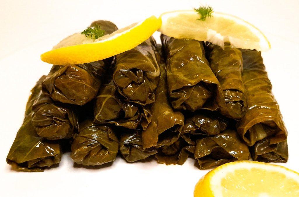Original Turkish recipe for dolmas: stuffed grape leaves