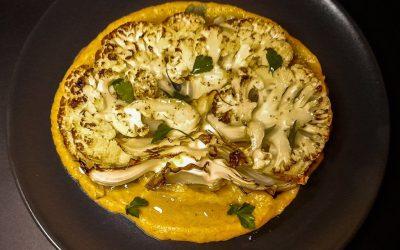 Füme soslu fırında Izgara Karnabahar: gerçekten inanılmaz lezzetli!