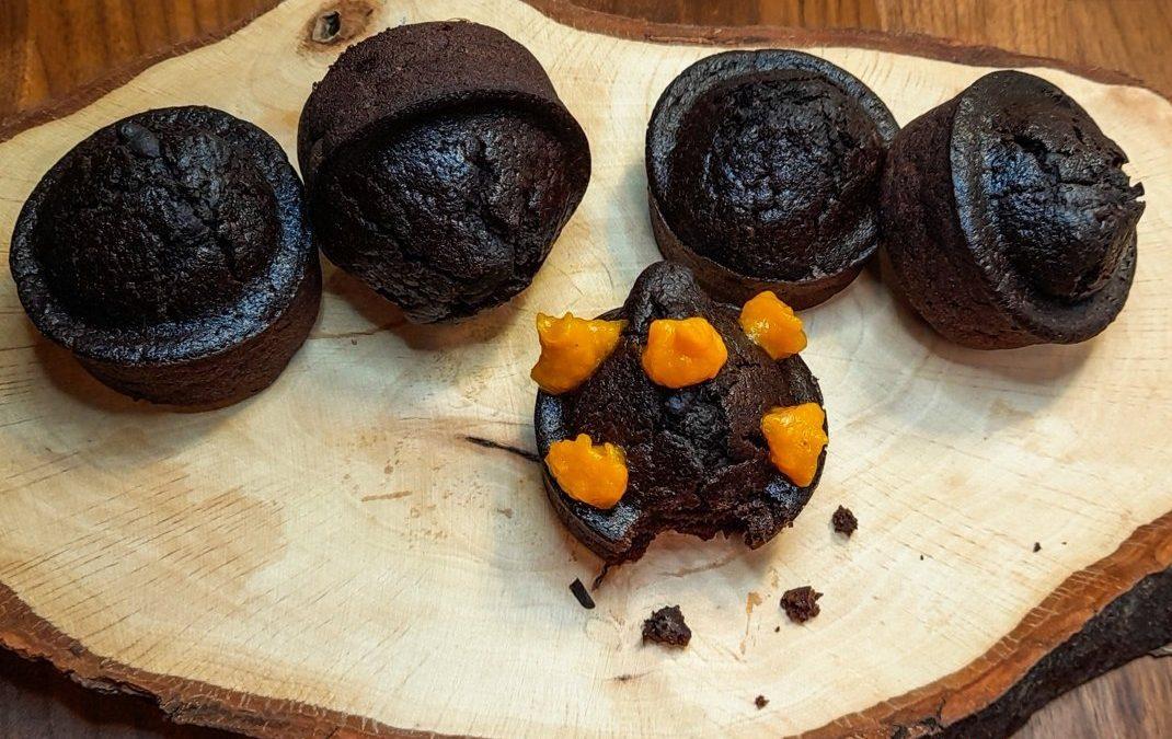 Muffin all'acqua con cacao e crema di zucca: un dolce light e vegano