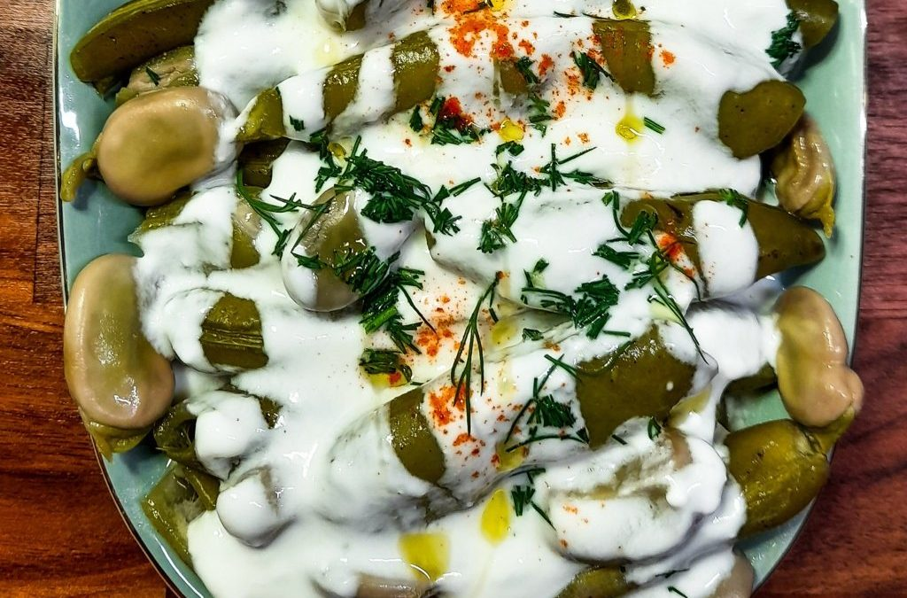 Delicious Fresh Fava Beans with pods: Levodopa rich, Turkish recipe
