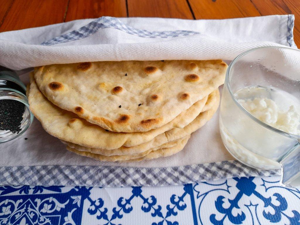Kefir flatbread with spelt flour