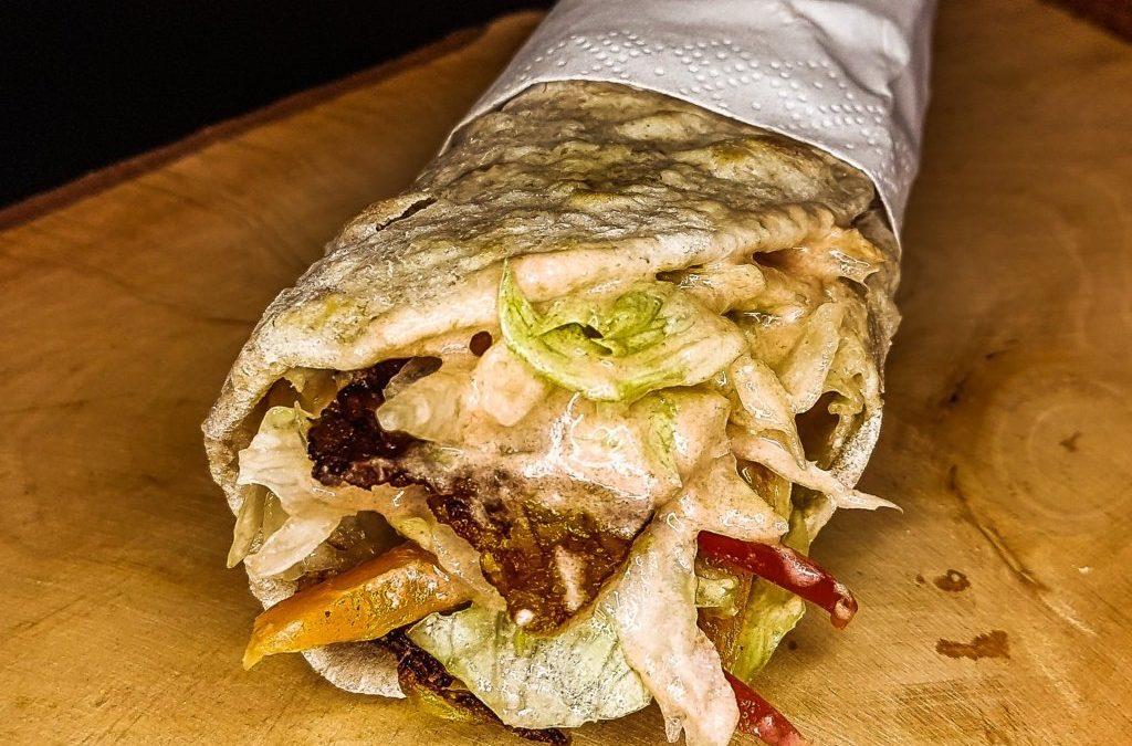 Vegetarian Doner Kebab wrap recipe, far better than the original