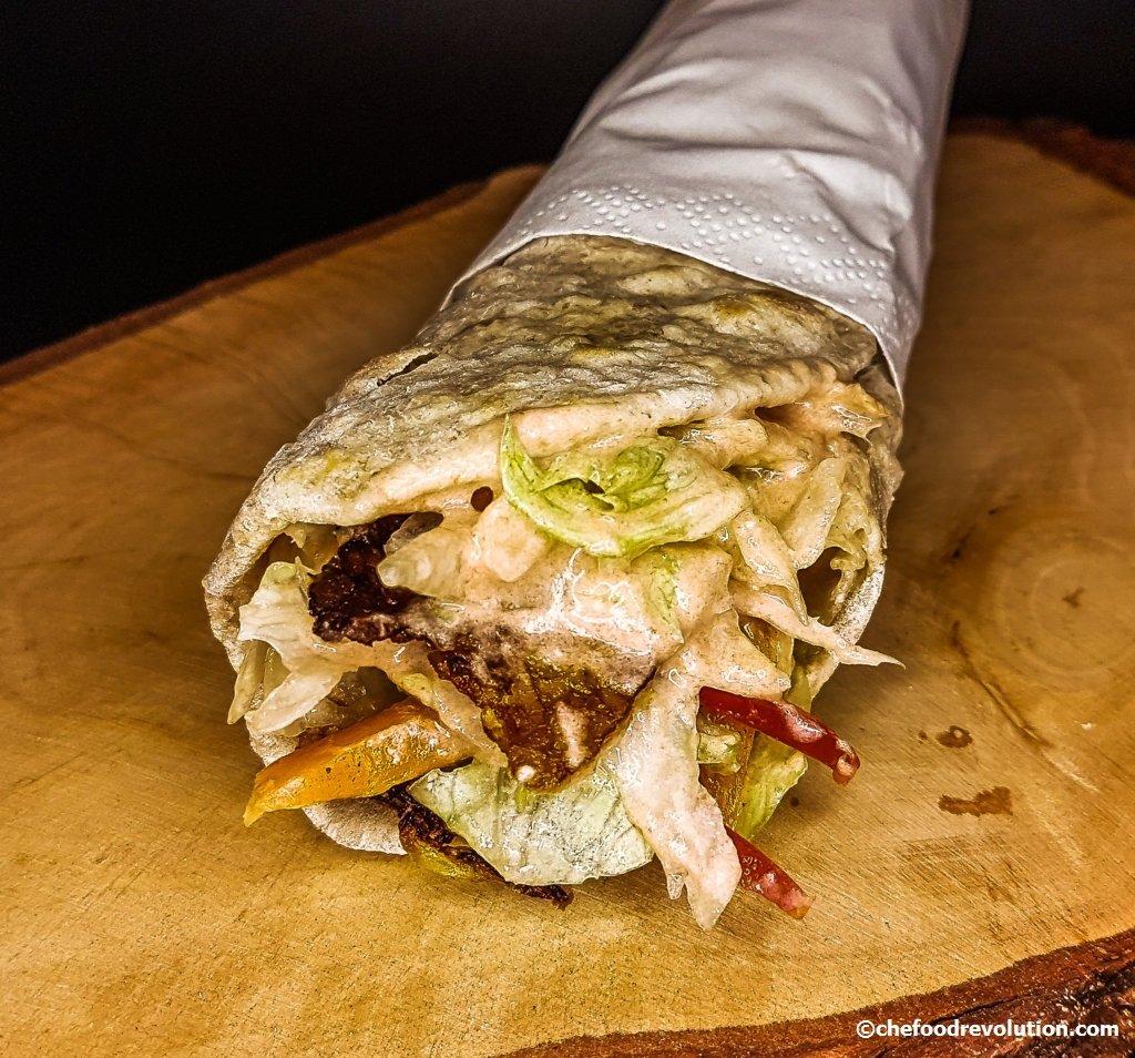 Vegetarian Doner Kebab wrap recipe