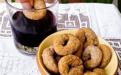 Şaraplı İtalyan kurabiyesi: rustik ve doğuştan vegan bir tarif