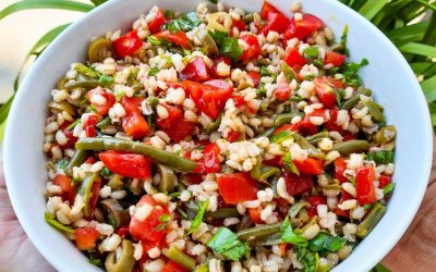 Barley salad & summer veggies: easy and refreshing for weekday lunches
