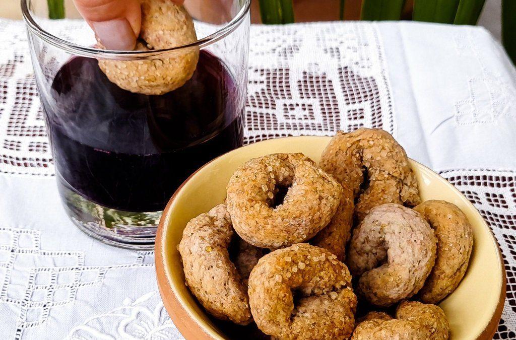 Ciambelline al vino con farina integrale: ricetta rustica e salutare