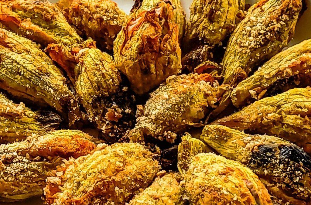 Fiori di zucca ripieni con ricotta affumicata: nutrienti e zero sprechi