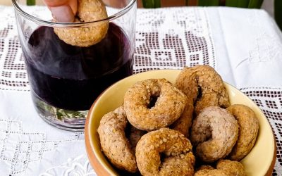 Italian wine cookies with whole wheat flour: a rustic and healthy recipe