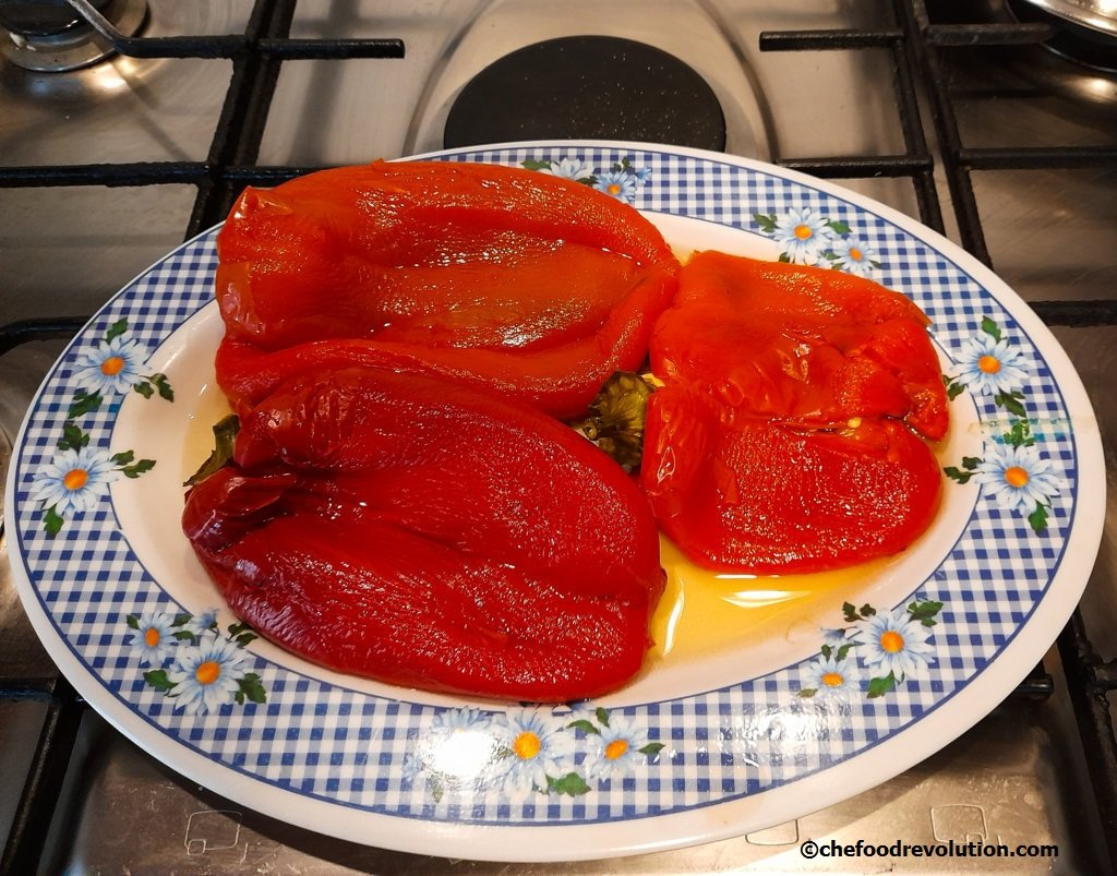 oven roasted bell peppers