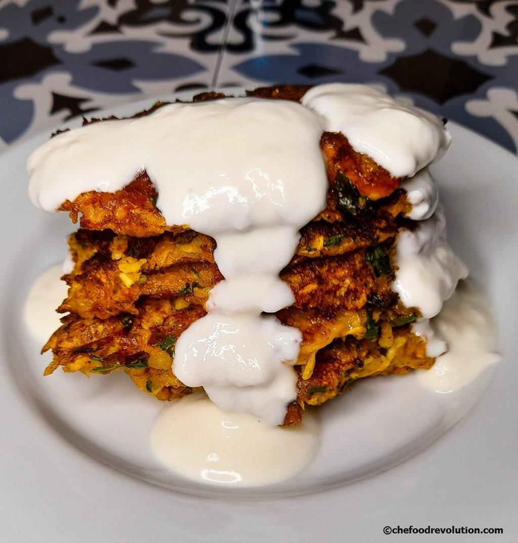 frittelle di zucchine, mucver turche
